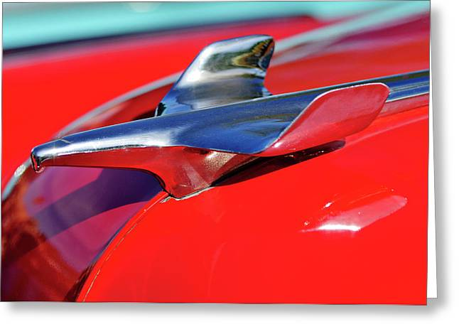 Hoodies Greeting Cards - 1954 Chevrolet Hood Ornament 3 Greeting Card by Jill Reger
