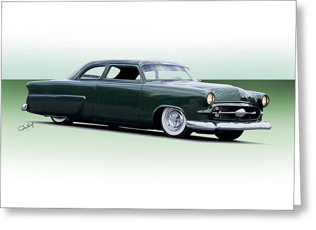 Slam Greeting Cards - 1954 Ford Customline Coupe I Greeting Card by Dave Koontz