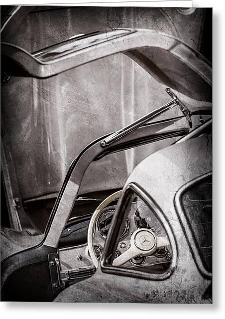 1954 Mercedes-benz 300sl Gullwing Steering Wheel -1653ac Greeting Card by Jill Reger