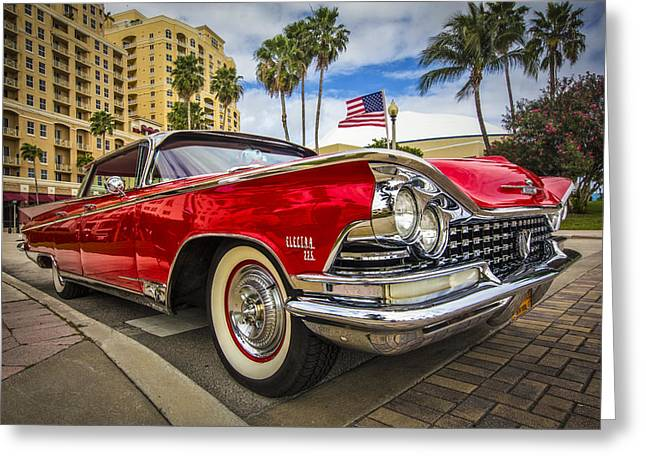 Apple Art Greeting Cards - 1955 Buick Electra Greeting Card by Debra and Dave Vanderlaan
