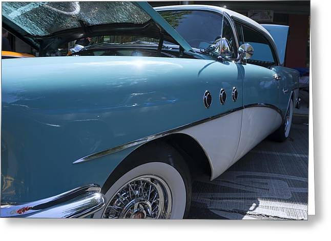 1955 Buick Greeting Cards - 1955 Buick Special  Greeting Card by Cathy Anderson