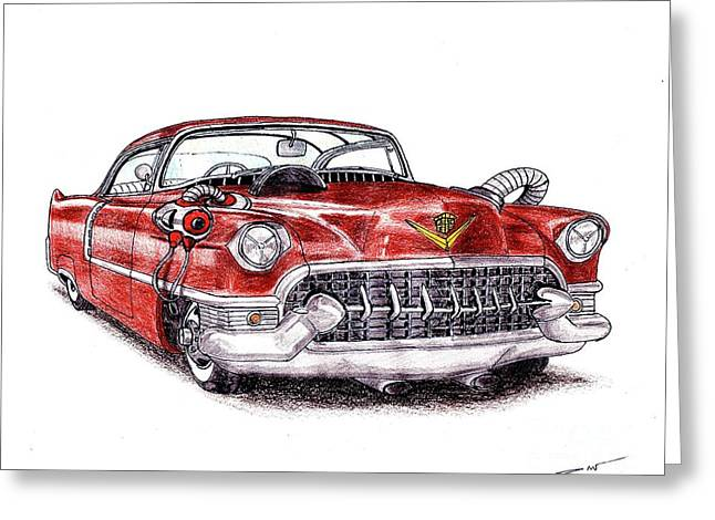 1955 Cadillac Series 62 Greeting Card by Dan Poll