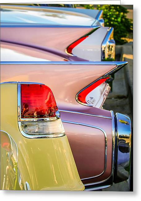 1955 Greeting Cards - 1955 Cadillac Taillights - 1960 Cadillac Taillights -0483c Greeting Card by Jill Reger