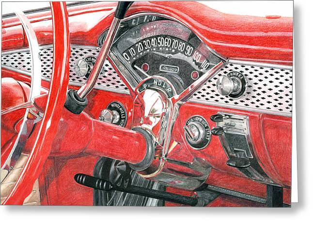 Photorealism Greeting Cards - 1955 Chevrolet Bel Air Greeting Card by Rob De Vries