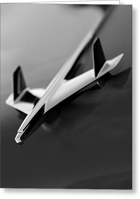 Car Mascot Greeting Cards - 1955 Chevrolet Belair Hood Ornament 2 Greeting Card by Jill Reger