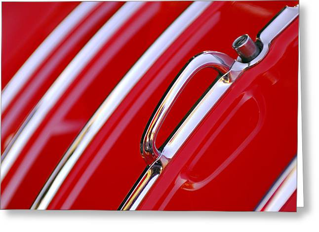 Chevrolet Trunk Greeting Cards - 1955 Chevrolet Belair Nomad Trunk Latch Greeting Card by Jill Reger