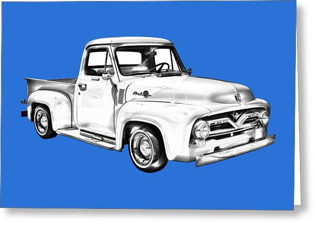 1955 F100 Ford Pickup Truck Illustration Greeting Card by Keith Webber Jr