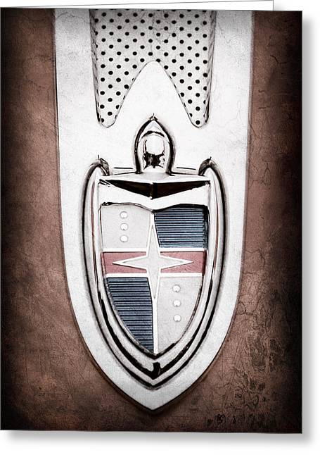 1955 Lincoln Indianapolis Boano Coupe  Emblem -0283ac Greeting Card by Jill Reger