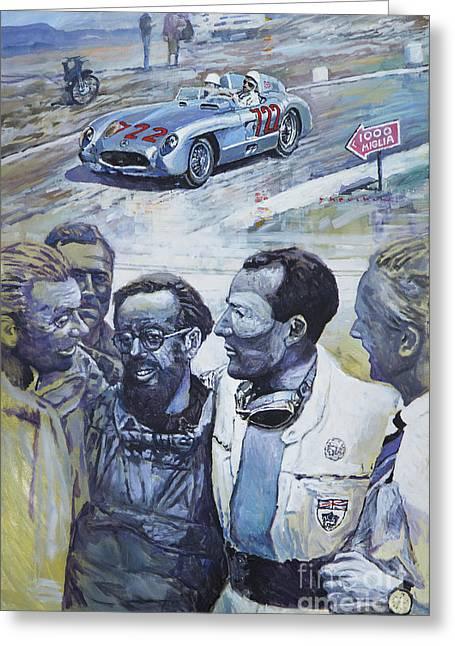 1955 Mercedes Benz 300 Slr Moss Jenkinson Winner Mille Miglia  Greeting Card by Yuriy Shevchuk