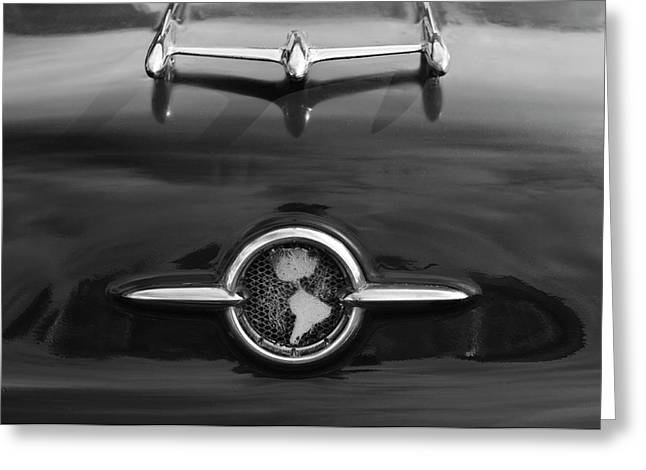 Car Mascot Greeting Cards - 1955 Oldsmobile Holiday 88 Hood Ornament 2 Greeting Card by Jill Reger