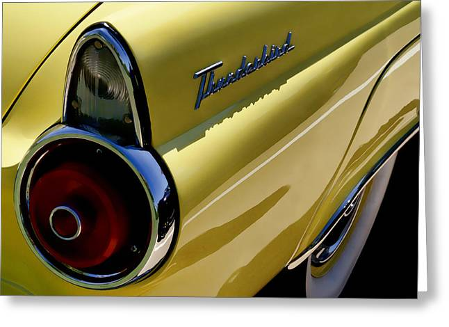 Fin Greeting Cards - 1955 T-Bird Tail   Greeting Card by Douglas Pittman