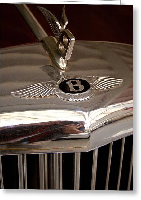 David Patterson Greeting Cards - 1956 Bentley S1 Greeting Card by David Patterson