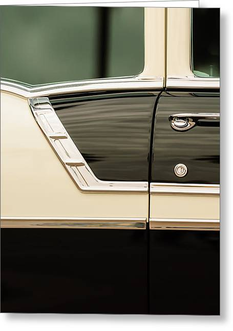 Famous Photographer Greeting Cards - 1956 Chevrolet 2-Door Side -005c Greeting Card by Jill Reger