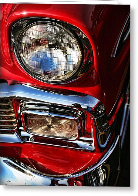 Racing Number Greeting Cards - 1956 Chevrolet Bel Air Greeting Card by Gordon Dean II