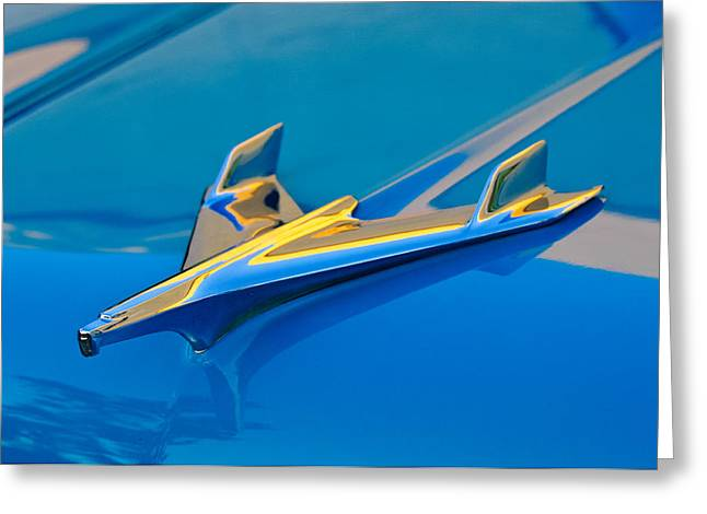 Car Mascot Greeting Cards - 1956 Chevrolet Hood Ornament 2 Greeting Card by Jill Reger