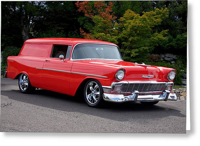 Slam Greeting Cards - 1956 Chevrolet Sedan Delivery I Greeting Card by Dave Koontz