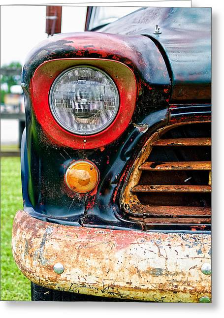 Unrestored Greeting Cards - 1956 Chevy 3200 Pickup Grill Detail Greeting Card by Jon Woodhams