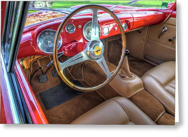 1956 Ferrari 250 Gt Boano Alloy Interior Greeting Card by John Adams