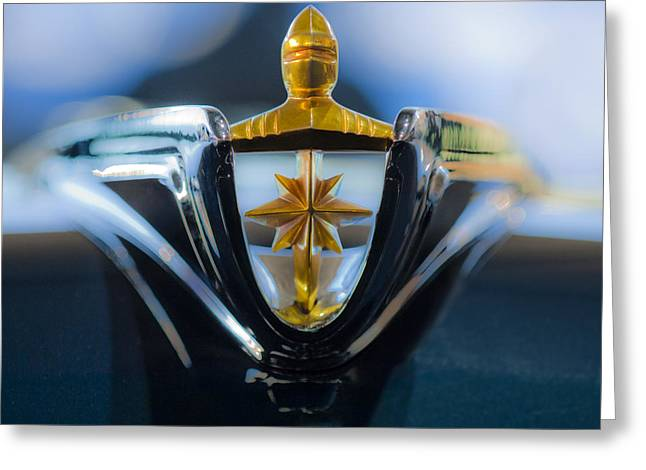 Collector Hood Ornament Greeting Cards - 1956 Lincoln Hood Ornament Greeting Card by Jill Reger