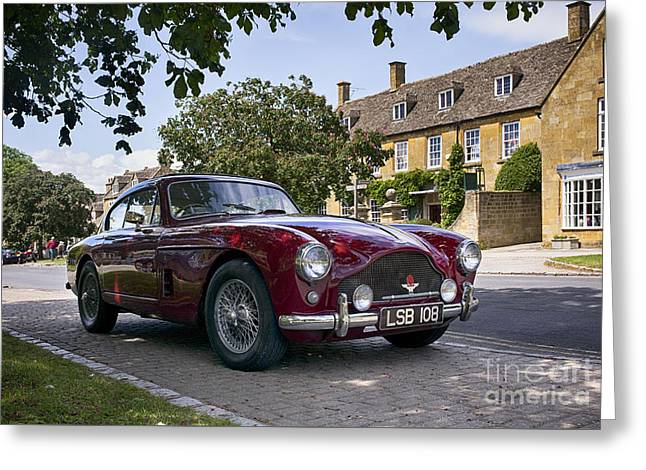 British Motor Car Greeting Cards - 1957 Aston Martin DB MkIII  Greeting Card by Tim Gainey