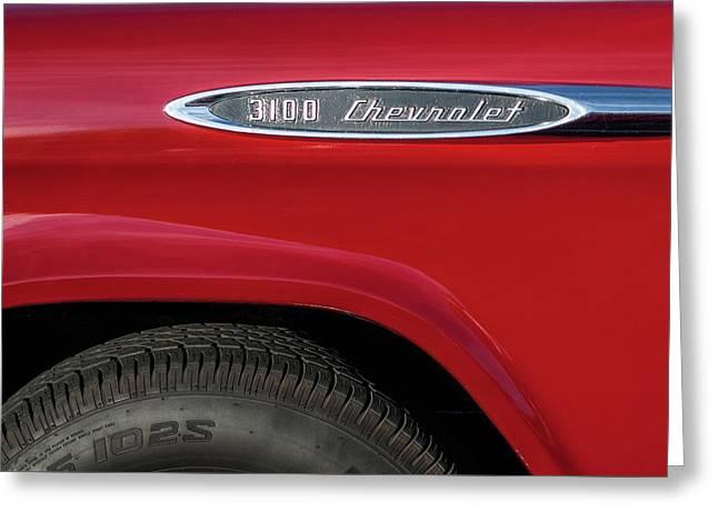 1957 Chevrolet 3100 Truck Emblem -0079c Greeting Card by Jill Reger