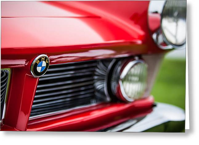 Roadster Grill Greeting Cards - 1958 BMW 3200 Michelotti Vignale Roadster Grille -2380c Greeting Card by Jill Reger