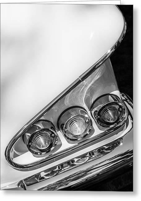 1958 Chevrolet Bel Air Convertible Tail Light -0278bw Greeting Card by Jill Reger