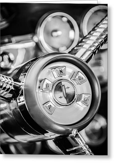 Steering Greeting Cards - 1958 Edsel Ranger Push Button Transmission 2 Greeting Card by Jill Reger
