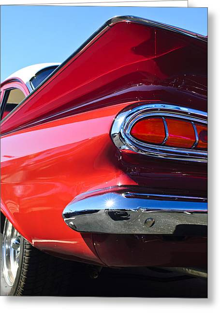1959 Chevrolet Greeting Cards - 1959 Chevrolet Biscayne Taillight Greeting Card by Jill Reger