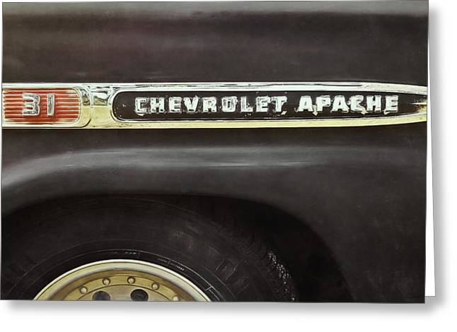 1959 Chevy Apache Greeting Card by Scott Norris