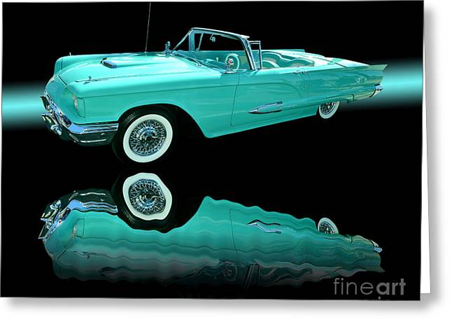 Thunderbird Greeting Cards - 1959 Ford Thunderbird Greeting Card by Jim Carrell