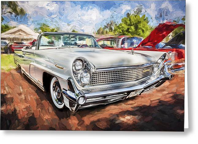Concord Greeting Cards - 1959 Lincoln Continental Town Car MK IV Painted Greeting Card by Rich Franco