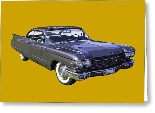 Caddy Greeting Cards - 1960 Cadillac - Classic Luxury Car Greeting Card by Keith Webber Jr