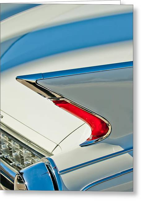 Caddy Greeting Cards - 1960 Cadillac Eldorado Biarritz Convertible Taillight Greeting Card by Jill Reger