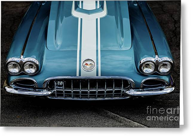 Greeting Card featuring the photograph 1960 Corvette by M G Whittingham