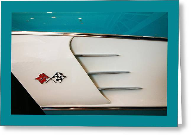 1960 Greeting Cards - 1960 Corvette Roadster Side Panel Greeting Card by Allen Beatty