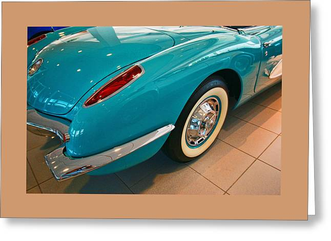 1960 Greeting Cards - 1960 Corvette Stingray Greeting Card by Allen Beatty