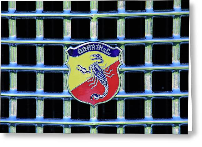 Hoodies Greeting Cards - 1960 Fiat Lusso Emblem Greeting Card by Jill Reger