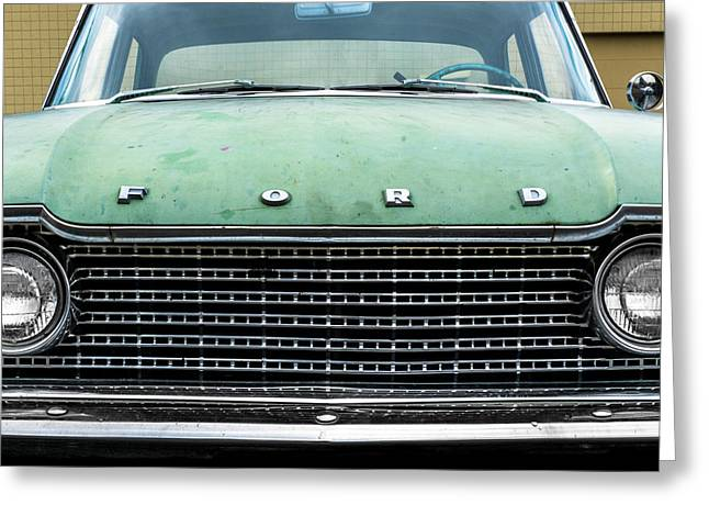 Rusted Cars Greeting Cards - 1960 Ford Fairlane Greeting Card by Jim Hughes