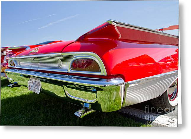 1960 Greeting Cards - 1960 Ford Sunliner  Greeting Card by Kevin McCarthy