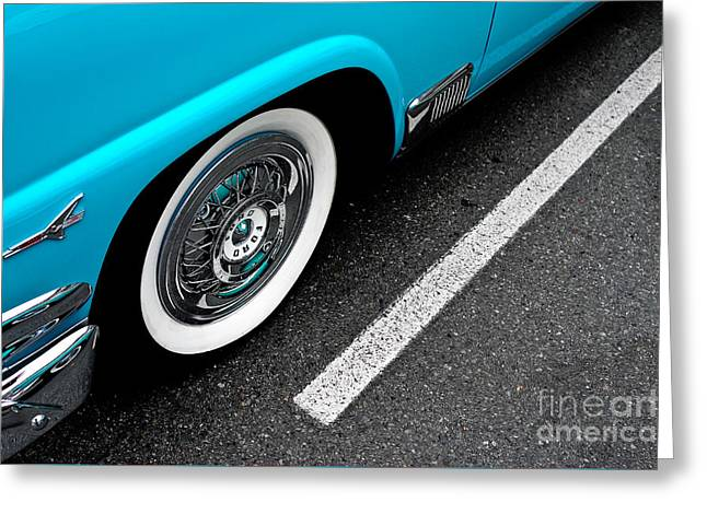 Greeting Card featuring the photograph 1958 Ford Crown Victoria by M G Whittingham