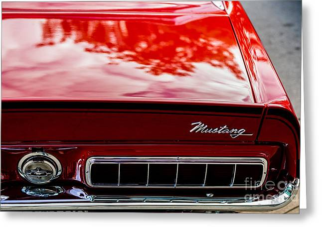 Greeting Card featuring the photograph 1967 Mustang by M G Whittingham