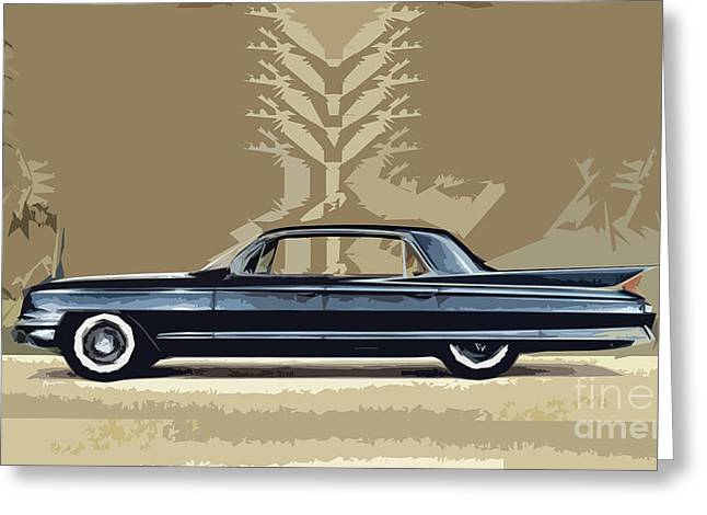 Most Greeting Cards - 1961 Cadillac Fleetwood Sixty-Special Greeting Card by Bruce Stanfield