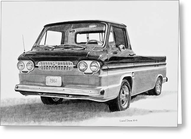 Daniel Storm Greeting Cards - 1961 Chevrolet Corvair Rampside Greeting Card by Daniel Storm
