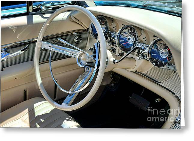 1961 Ford Thunderbird Dashboard  Greeting Card by Olivier Le Queinec