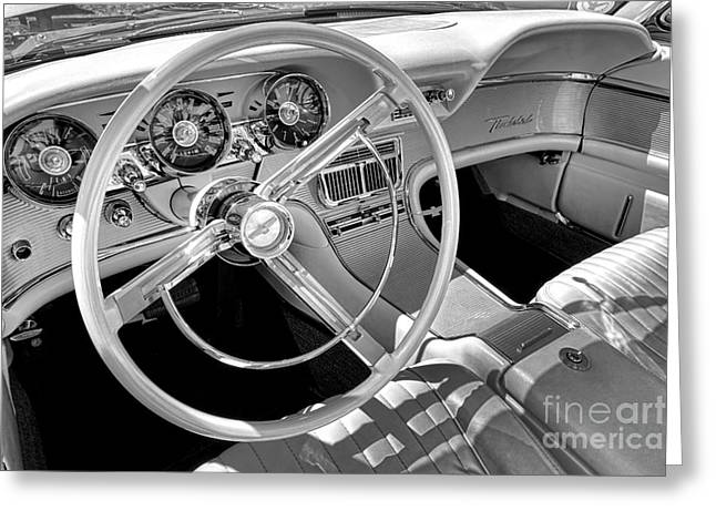 Thunderbird Greeting Cards - 1961 Ford Thunderbird Interior  Greeting Card by Olivier Le Queinec