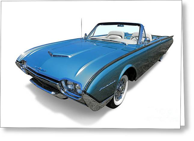 Thunderbird Greeting Cards - 1961 Ford Thunderbird Greeting Card by Olivier Le Queinec