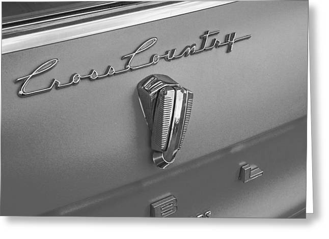 Collector Hood Ornament Greeting Cards - 1961 Rambler Emblem B and W Greeting Card by Nick Gray