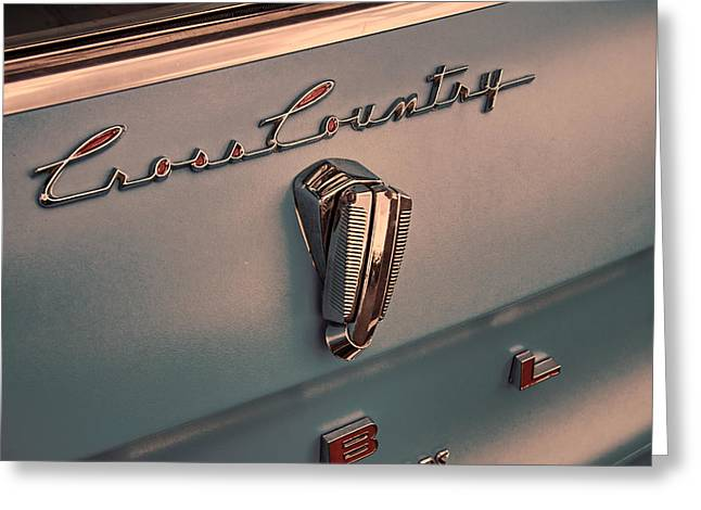 Collector Hood Ornament Greeting Cards - 1961 Rambler Emblem Vintage Greeting Card by Nick Gray