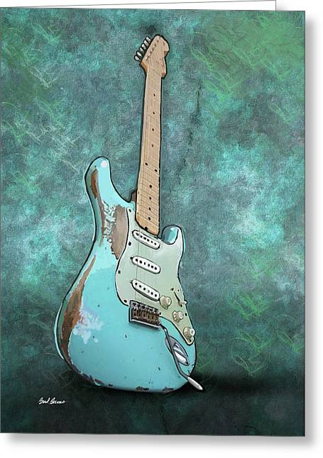 1962 Fender Stratocaster Greeting Card by Brad Burns